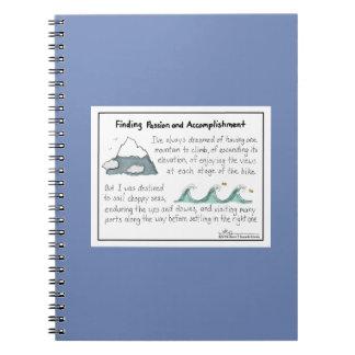 Encontrar el cuaderno del azul de la pasión y de