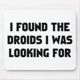 Encontré Droids Alfombrillas De Ratones