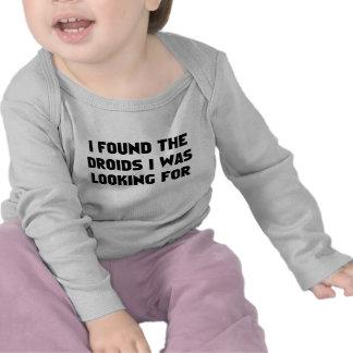 Encontré Droids Camisetas