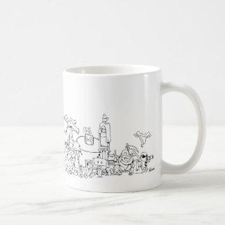 Encuentre a la familia taza básica blanca