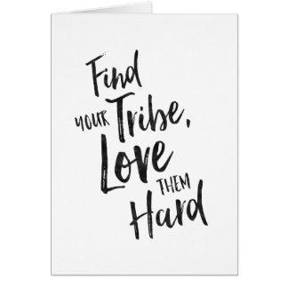 Encuentre su tribu - tarjeta de felicitación