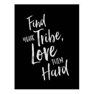 Encuentre su tribu - tarjeta inspirada