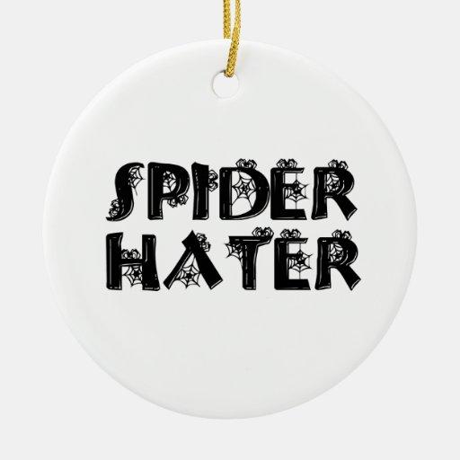Enemigo de la araña ornaments para arbol de navidad