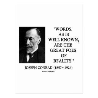 Enemigos de las palabras de Joseph Conrad grandes Postal