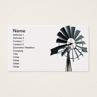Energía alternativa - poder del molino de viento tarjeta de negocios