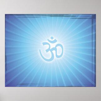 Energía azul de Aum Posters