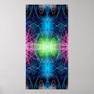 Energía de flores ligeros póster