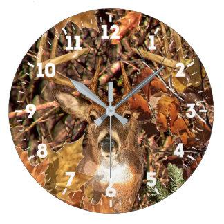 Energía de la cabeza de los ciervos de la cola reloj redondo grande
