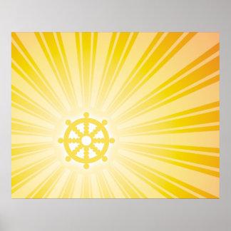 Energía de la rueda de Dharma Posters