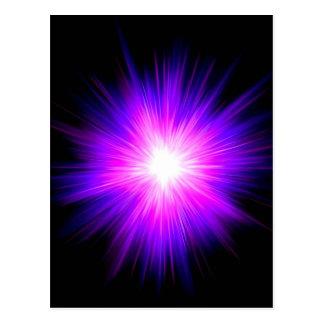 Energía divina del reiki curativo púrpura de la postal