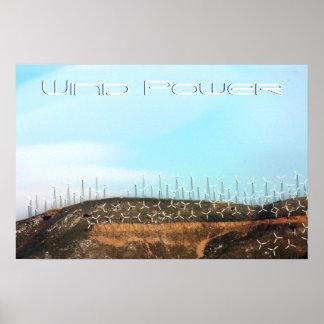 Energía eólica póster