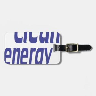 Energía limpia etiquetas para maletas