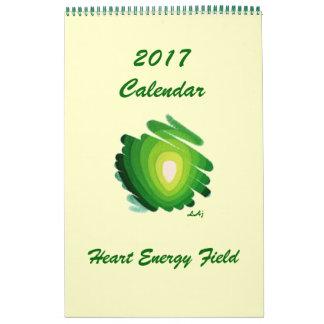 Energía verde solo Pag de Chakra del corazón de Calendario De Pared