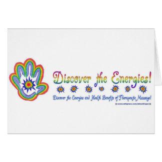 Energías del masaje tarjeta de felicitación