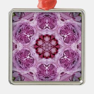 Enero de 2013 color de rosa rosado adorno cuadrado plateado