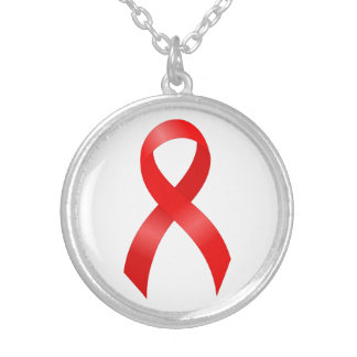 Enfermedad cardíaca del SIDA y del VIH el | y Collar Plateado