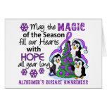 Enfermedad de Alzheimer de los pingüinos del navid Tarjeton