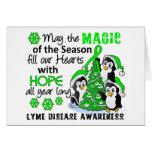 Enfermedad de Lyme de los pingüinos del navidad Felicitación