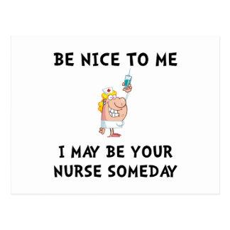 Enfermera agradable postal
