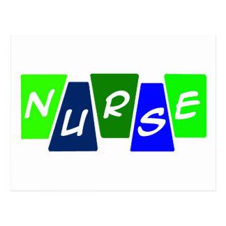 Enfermera - azulverde postal