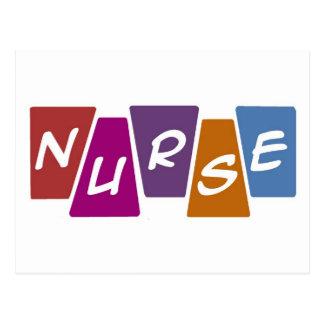 Enfermera - colorida postales