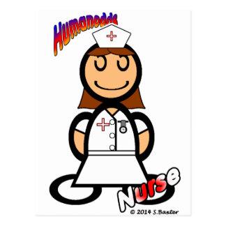 Enfermera (con los logotipos) postal