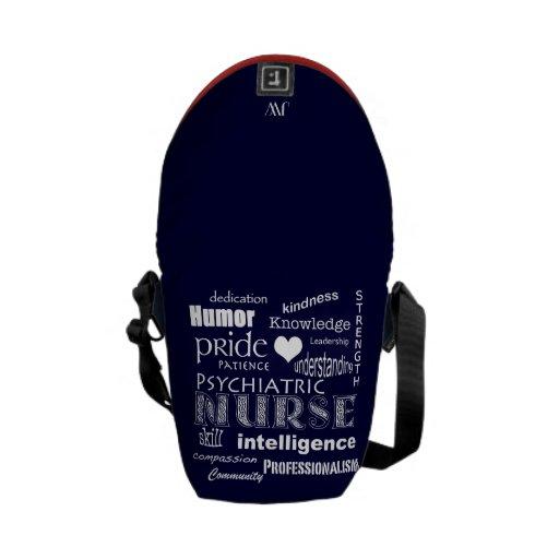 Enfermera-Cualidades psiquiátricas/corazón blanco+ Bolsas De Mensajeria