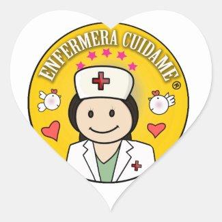 Enfermera Cuidame Morena y Amarillo