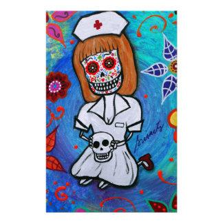 Enfermera de Dia de los Muertos Sweet Papeleria