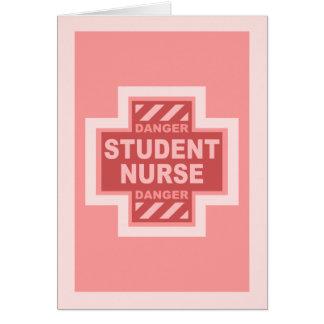 ¡Enfermera de estudiante del peligro - rosa Felicitacion