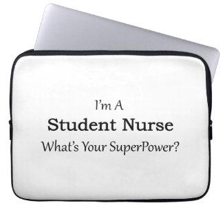 Enfermera de estudiante mangas portátiles