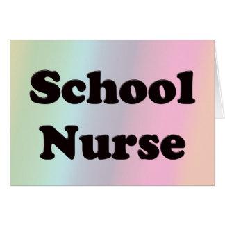 Enfermera de la escuela tarjetas
