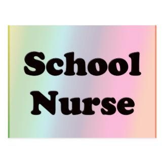 Enfermera de la escuela tarjeta postal