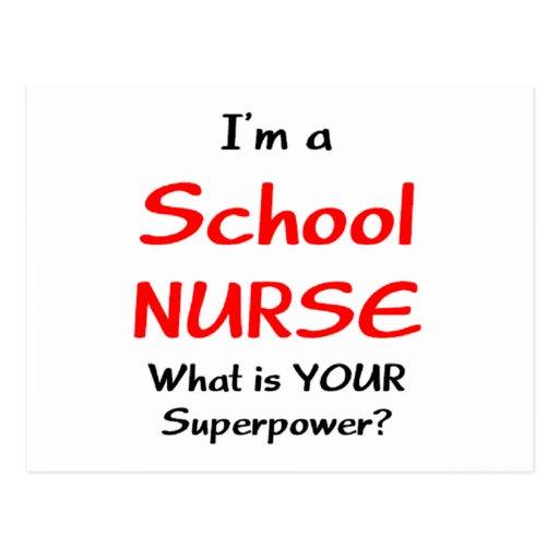 Enfermera de la escuela tarjetas postales