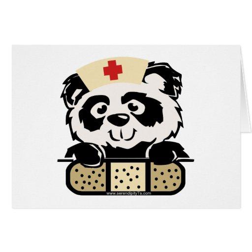 Enfermera de la panda felicitacion
