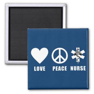Enfermera de la paz del amor iman