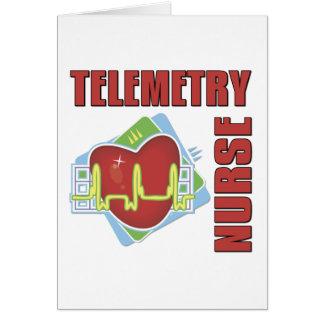 Enfermera de la telemetría tarjeta