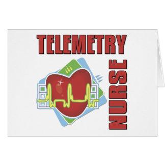 Enfermera de la telemetría tarjetas