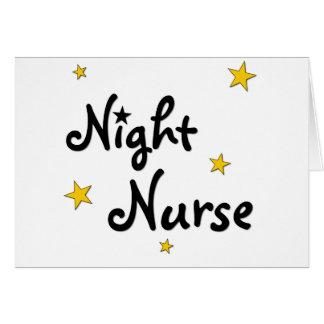 Enfermera de noche tarjetas
