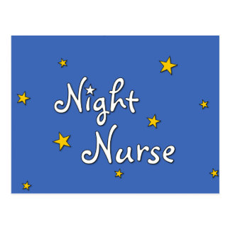 Enfermera de noche postal