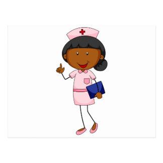 Enfermera de sexo femenino en fichero de tenencia postal