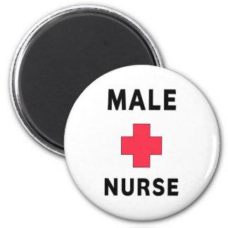 Enfermera de sexo masculino iman para frigorífico
