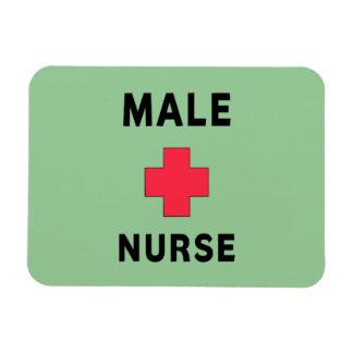 Enfermera de sexo masculino iman rectangular