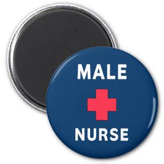 Enfermera de sexo masculino imán redondo 5 cm
