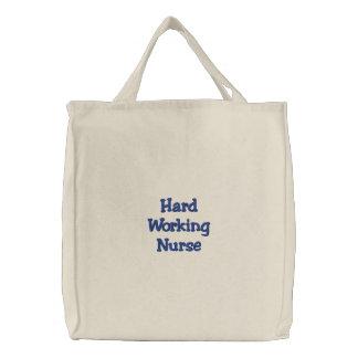 Enfermera de trabajo dura bolsa de mano bordada