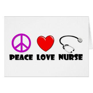 Enfermera del amor de la paz felicitaciones
