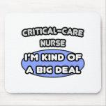 Enfermera del Crítico-Cuidado. Clase de una gran c Tapetes De Ratón