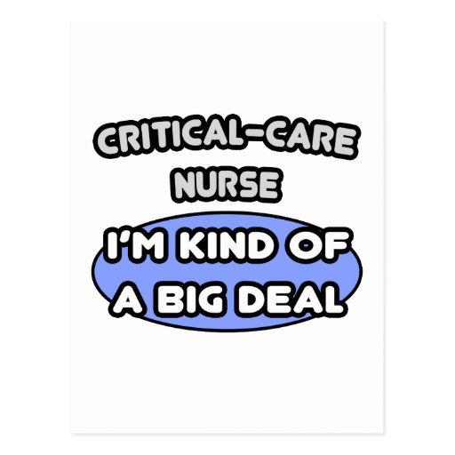 Enfermera del Crítico-Cuidado. Clase de una gran c Postal