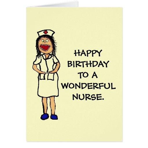 Enfermera del cumpleaños tarjeton