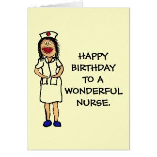 Enfermera del cumpleaños tarjeta de felicitación